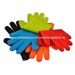 Kitchen Gloves Utilities Silicone For Cooking Baking Barbecue Grilling Heat China