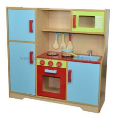 Kids Wooden Kitchen Electric Stoves China Pretend Made Of Natural Color Plywood