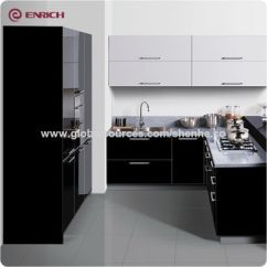 Acrylic Kitchen Cabinets Curtains Cheap China Cabinet From Guangzhou Wholesaler Enrich 2018 Modular High Gloss Lacquer Uv For Project
