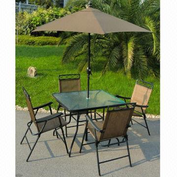 6 piece patio set includes deluxe