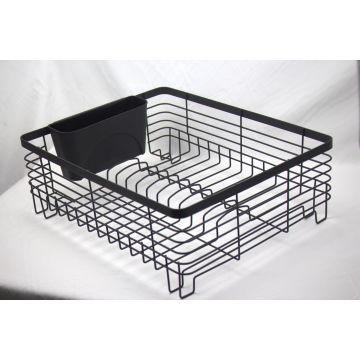 kitchen drying rack spray paint cabinets dish drainer with full mesh silverware storage china