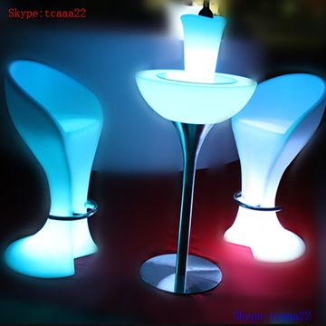 led table and chairs rolling atlantic city boardwalk furniture light chair bar china