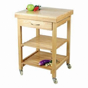 oak kitchen cart ideas for cabinets trolley with shelves and drawer global sources china