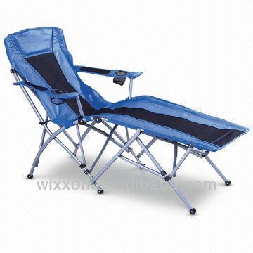 outdoor folding lounge chairs high back arm chair camping big size strong stand china