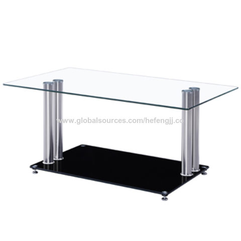 China Glass Top Cheap Coffee Tables Stainless Steel Leg On Global Sources