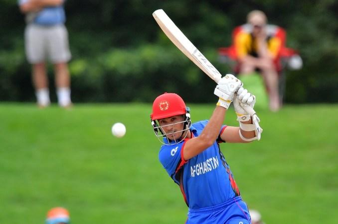 Rahmanullah Gurbaz hits a crunching drive off the front foot | Photo | Global | ESPNcricinfo.com