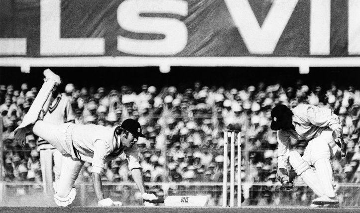 Nearly run out in Delhi in 1976, on the tour when he captured hearts all over India