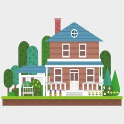 House Free Home Clipart House With Garden Clipart Transparent Cartoon Jing fm