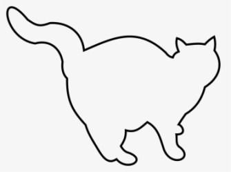 Transparent Cat Outline Png Black And White Cat Clip Art Png Download kindpng