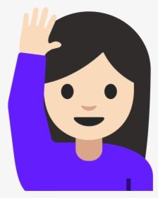 Emoji Girl With Hand Up : emoji, Emoji, Images,, Transparent, Download, KindPNG