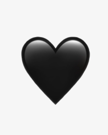 Heart Png Black : heart, black, Black, Heart, Emoji, Images,, Transparent, Download, KindPNG