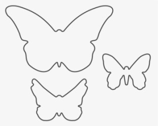 Butterfly Outline PNG Images Free Transparent Butterfly Outline Download KindPNG