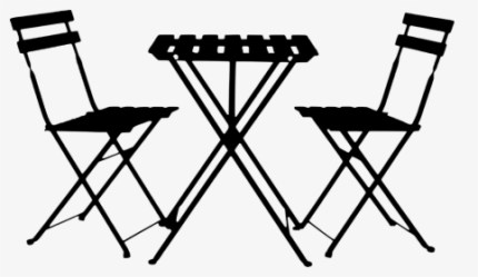 Silhouette Table Chairs Summer Restaurant Patio Table Png Transparent Png kindpng