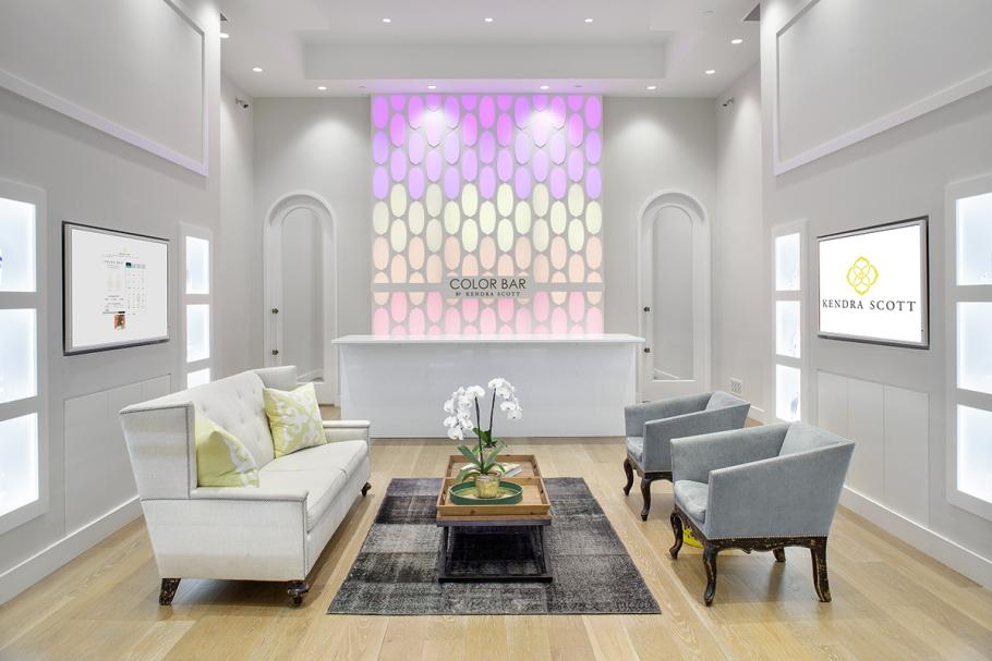 Kendra Scott Jewelry Store Lit up in Pastel Colors  LEDinside