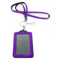 Rhinestone Bling Crystal Custom Lanyard Vertical ID Badge ...