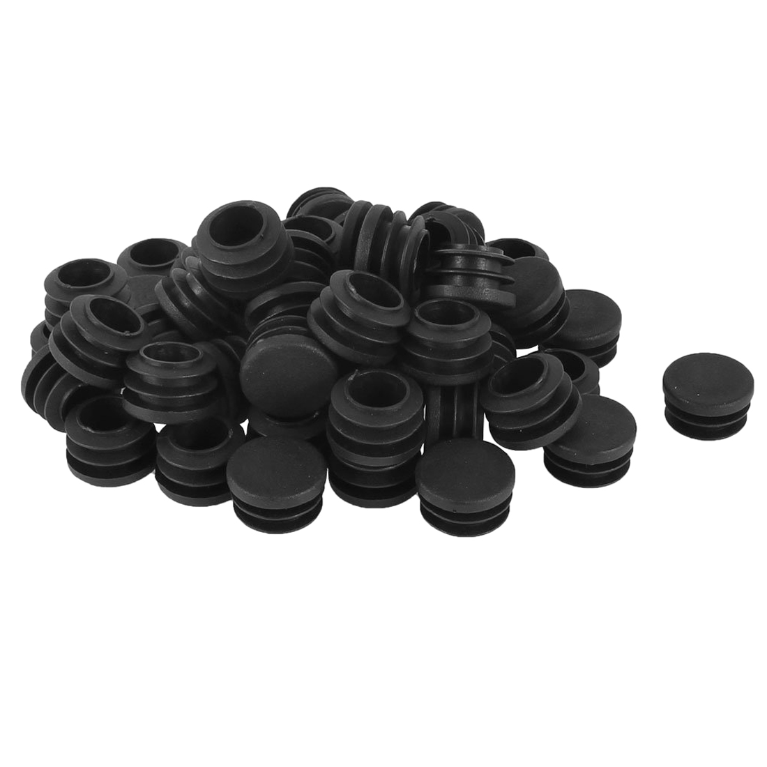 caps for chair legs folding tent plastic round cap table ribbed tube insert 22mm