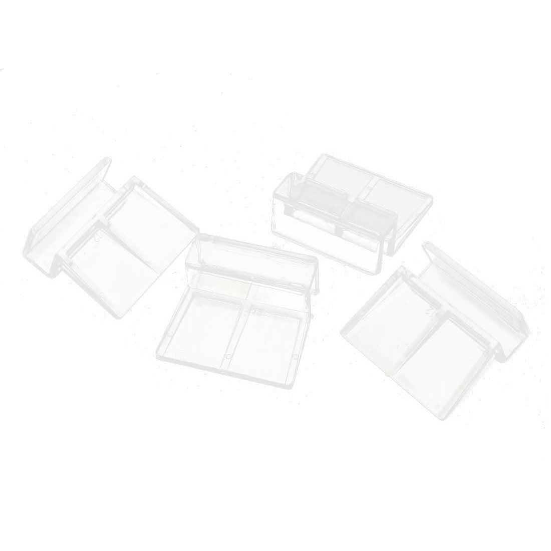 4 Pcs Clear Plastic Fish Tank Glass Cover Clip Support