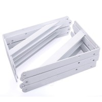 10PCS Heavy Duty White Decorative Shelf Brackets Wall ...