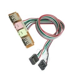 pc computer case front panel usb audio port mic earphone cable line w5c2 [ 1100 x 1100 Pixel ]