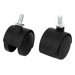 Replacement Casters For Office Chairs Dyeing Ikea Chair Covers Caster Soft Wheel Swivel Rubber Wood Floor