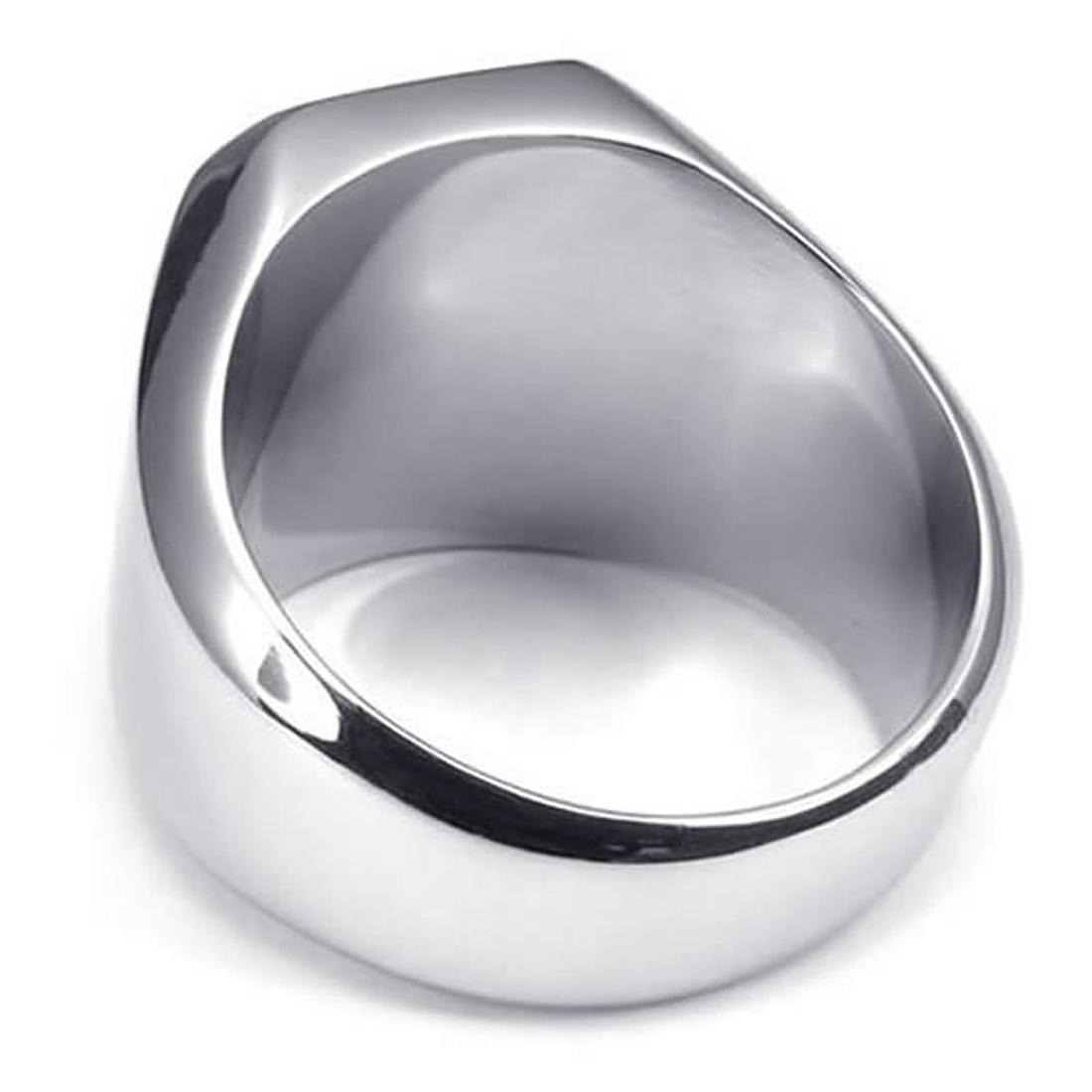 Schmuck HerrenRing Edelstahl Siegelring Silber DE  eBay