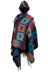 Ladies Knit Warm Hooded Hooded Shawl Pashmina Ponchos Cape ...