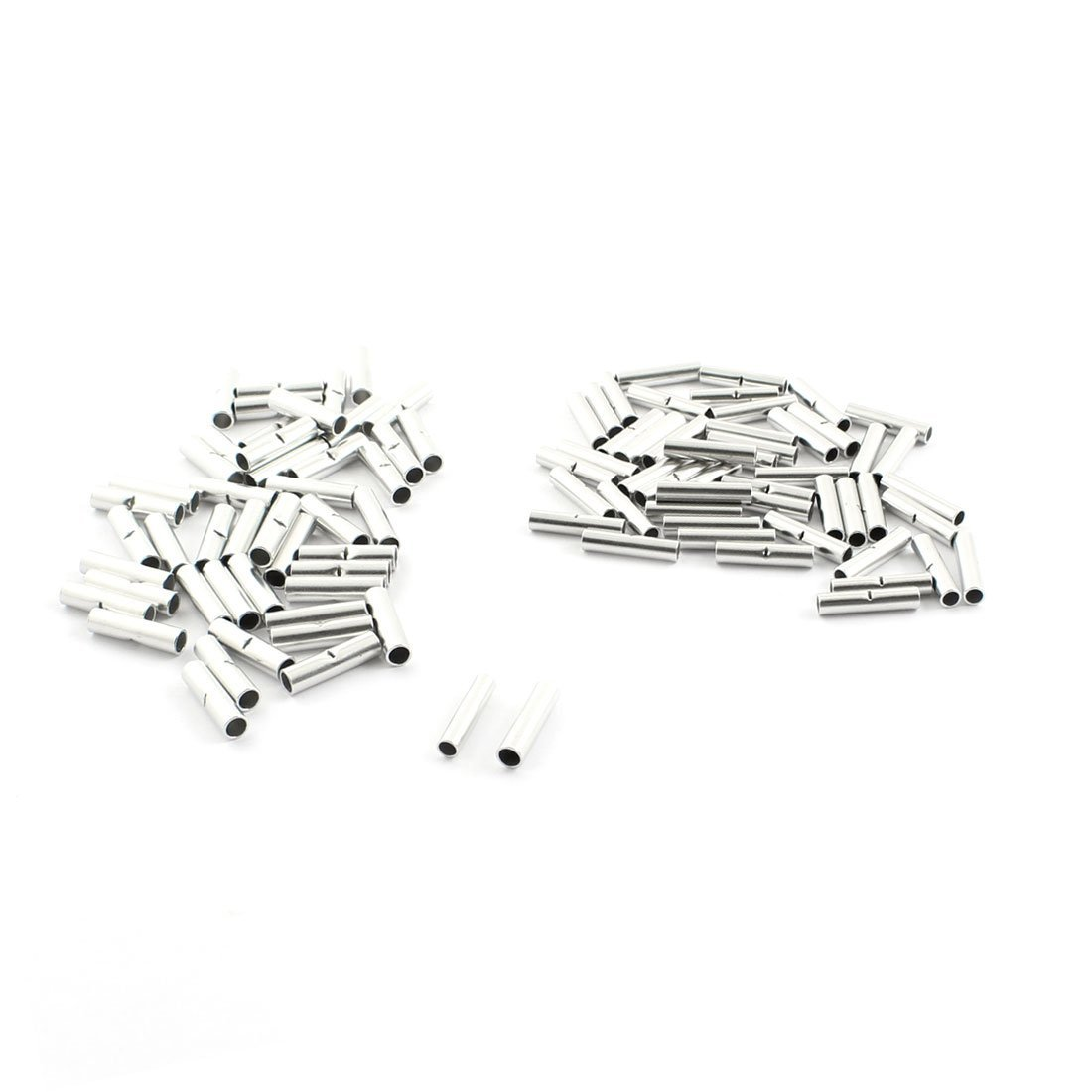 100pcs Bn1 Bn2 Pipe Type Non Insulated Tin Plated Butt