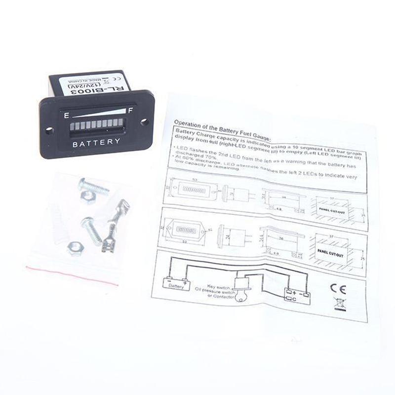 2X(Batteriestatus Ladeanzeige Monitor Messgeraet LED