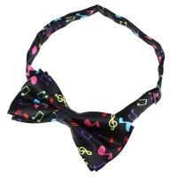 Stylish Black Bottom with Colorful Musical Note Design Bow ...