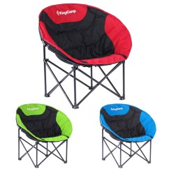 Plush Padded Moon Saucer Chair In Red Backpack Beach With Cooler Kingcamp Leisure Lightweight Camping Carry