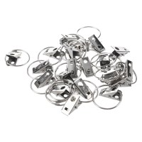20 pcs clip Rings for Curtain Rod Curtains Clips. BT | eBay