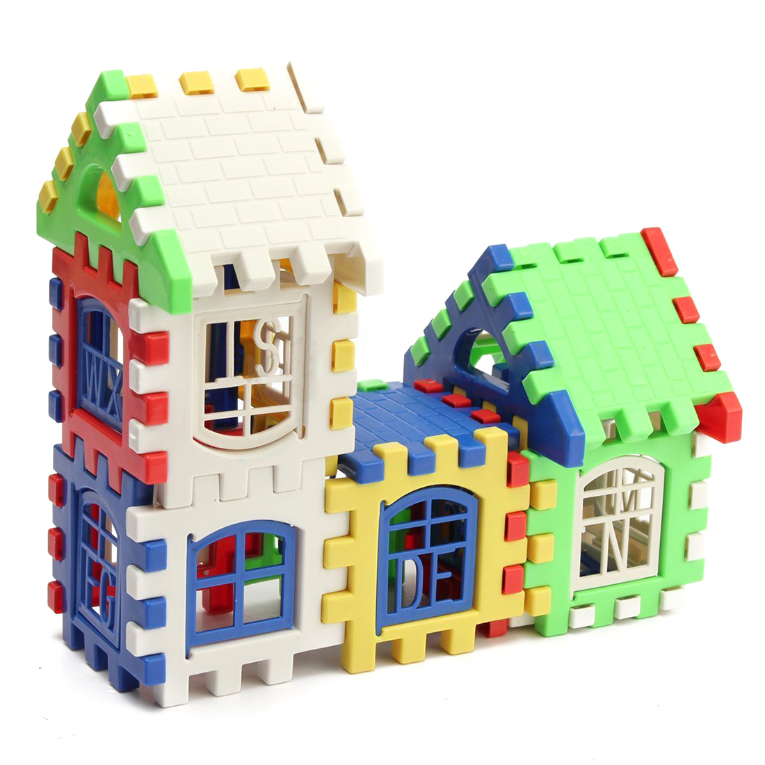 24pcs Children Puzzle Plastic Letter Building Blocks House