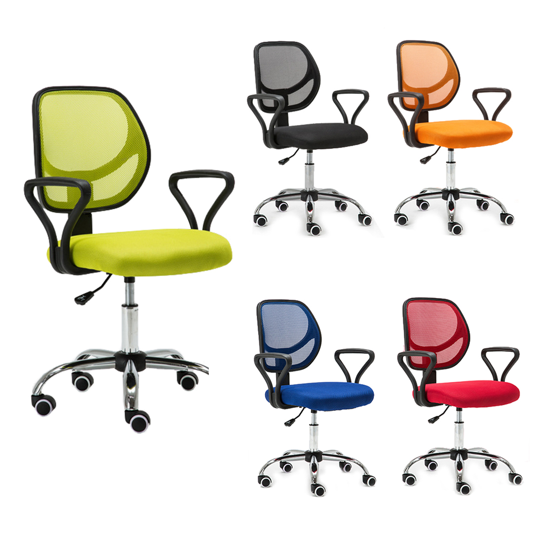 swivel office chair base moms baby new ergonomic mesh computer desk task