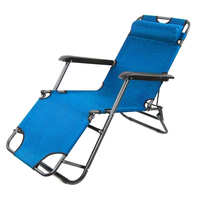 2x Folding Reclining Garden Chair Sun Lounger Deck Camping