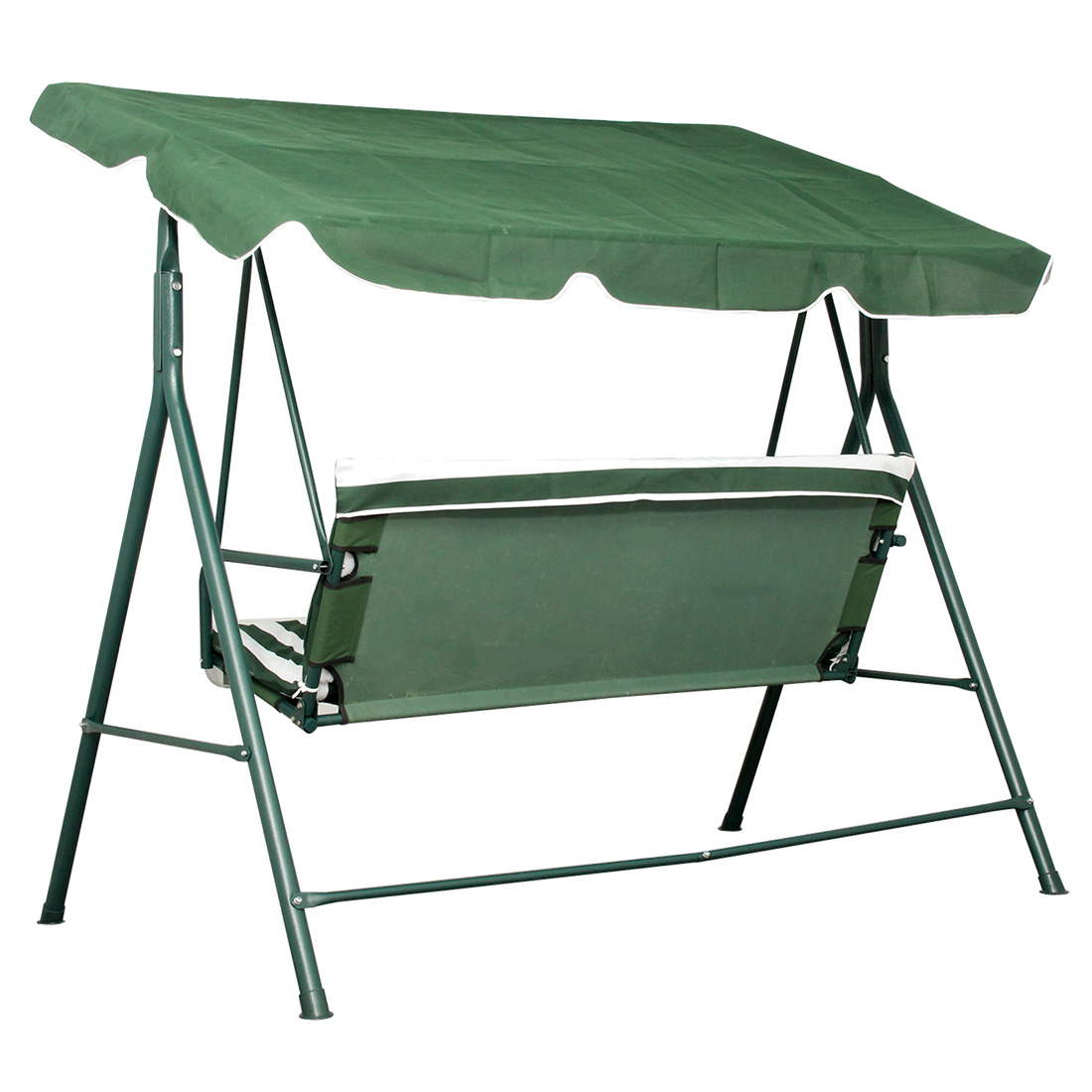 swing chair seat reclining bed bath and beyond patio metal 3 seater hammock bench