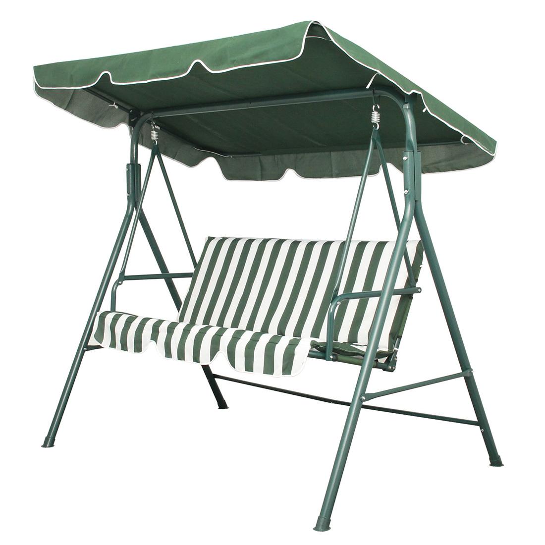 swing chair steel round back dining garden patio metal seat 3 seater hammock bench