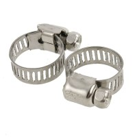 3 pcs Fuel Injection Gas Water Pipe Hose Clamp 15-25 mm ...