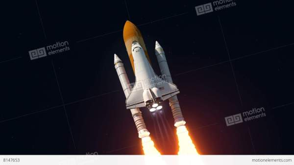 Space Shuttle Launch Stock Animation 8147653