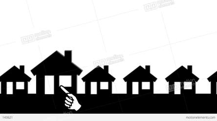 animated background houses arrow animation zooming buildings hd architecture