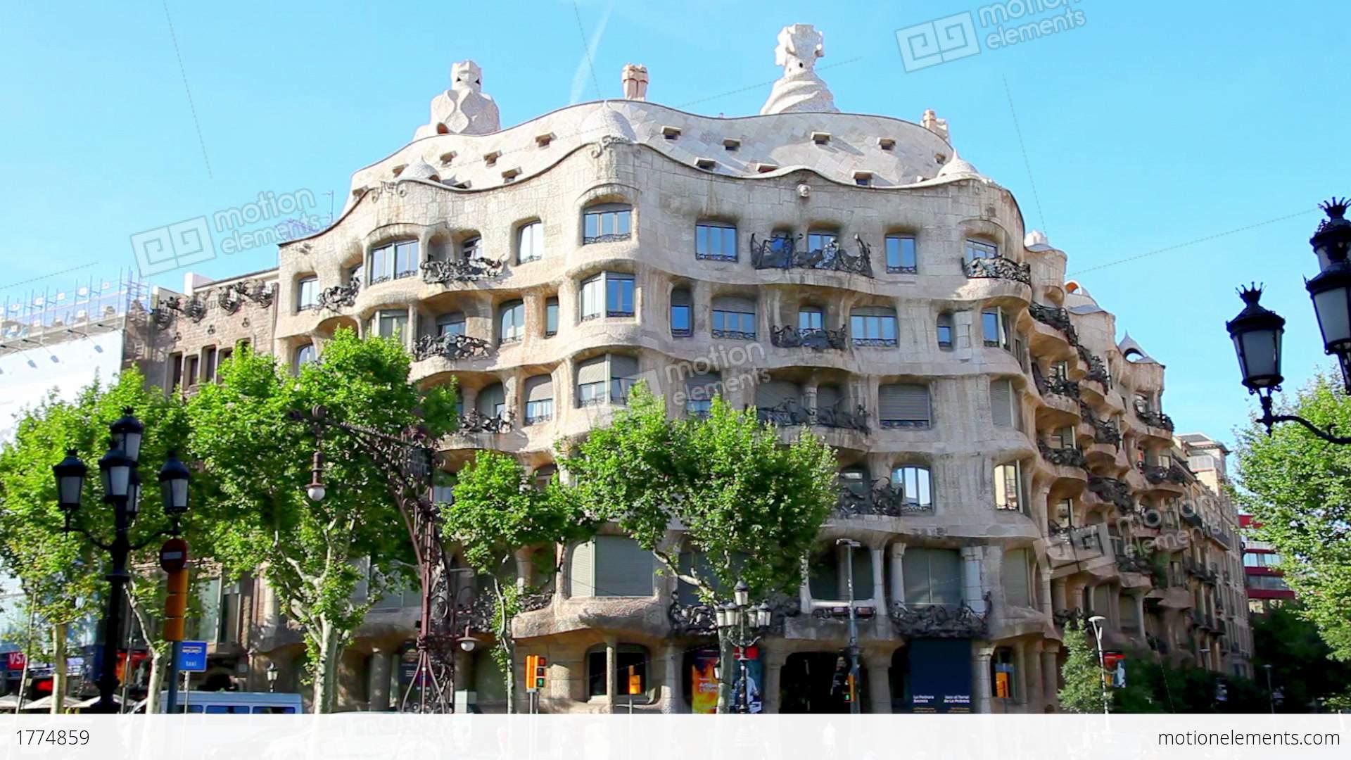 Casa Mila La Pedrera In Barcelona Spain Stock video