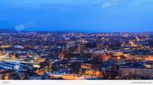 Dawn Over Oslo Norway Stock Video Footage 2205971