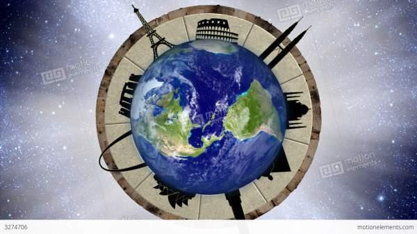 Looping World Travel Animation Stock 3274706