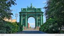Narva Triumphal Gate Russian History Stock Video Footage