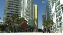 Apartment Buildings In Downtown Miami Stock Video Footage