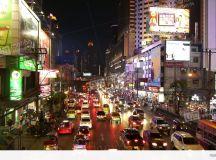 Busy Street Scene In Bangkok, Thailand Stock video footage ...