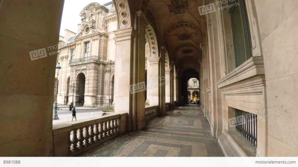 Louvre. Famous Art Museum In Paris. France. 4k Stock
