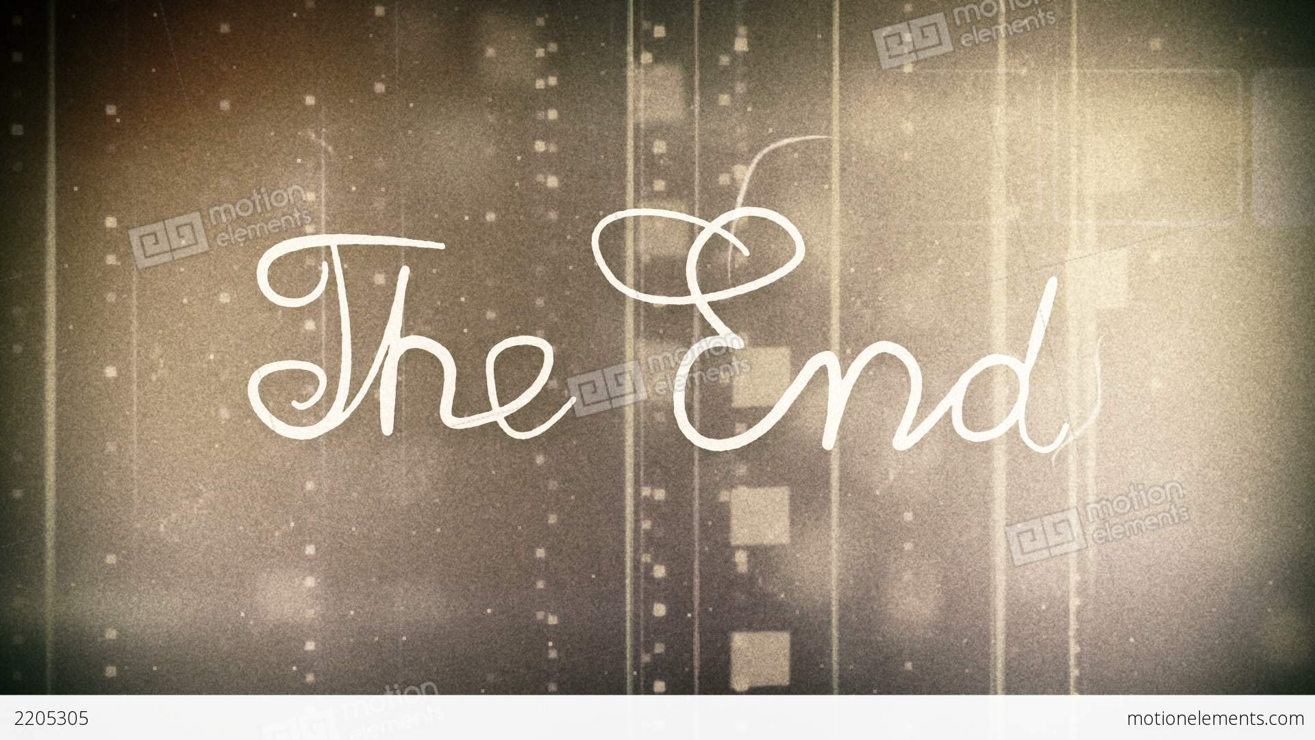 The End Old Movie Animation Alpha Stock Animation 2205305