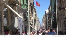 Malta Valletta Main Shopping Street Triq Ir-repubblika In