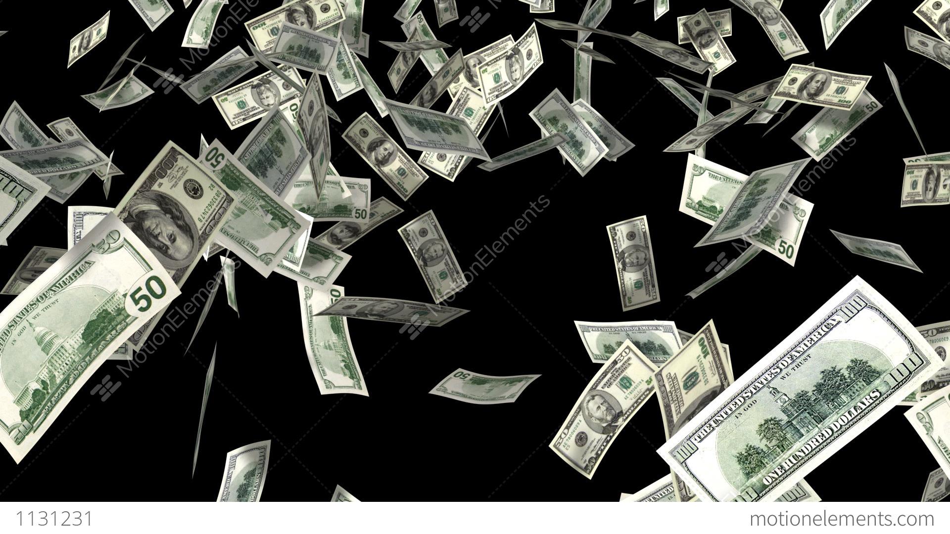 Money Falling Wallpaper Money Rain Stock Animation 1131231