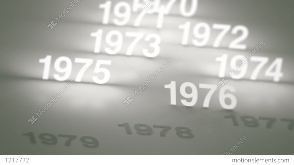 medium resolution of glowing numbers timeline 1970s 1980s and 1990s stock video footage
